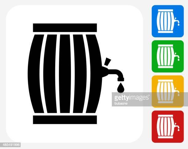 Barrel Icon Flat Graphic Design