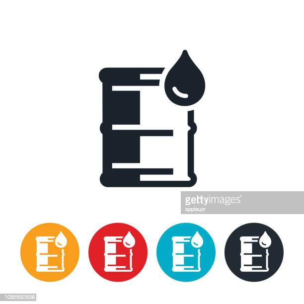 barrel of oil icon - oil drum stock illustrations, clip art, cartoons, & icons