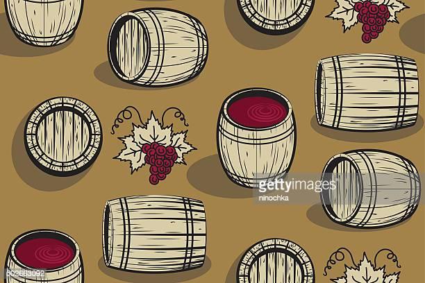 Barrel seamless pattern