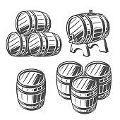 Barrel. Vector illustration.