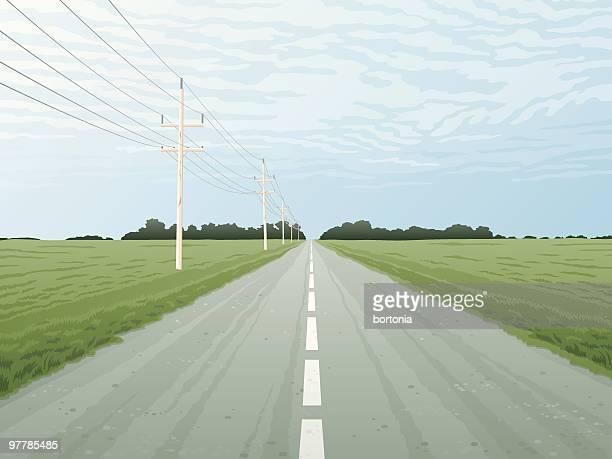痩せ地 highway - 境界線点のイラスト素材/クリップアート素材/マンガ素材/アイコン素材
