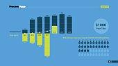 Bars and Percentage Combo Diagram Slide