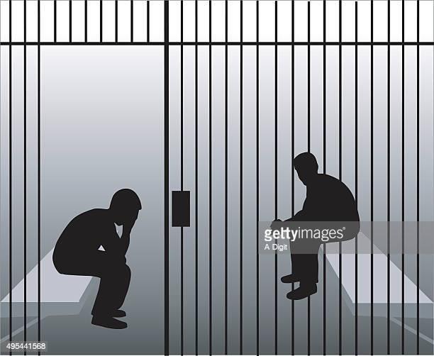bars - prisoner vector stock illustrations