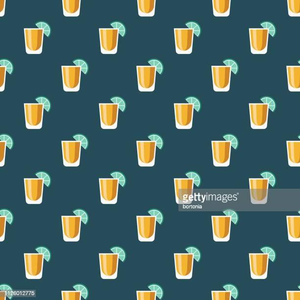 ilustrações, clipart, desenhos animados e ícones de no bar padrão sem emenda - tequila drink