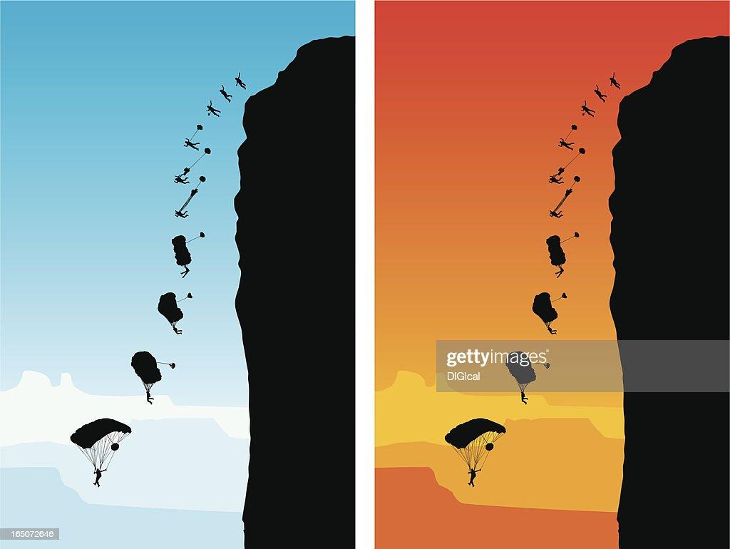 Base Jumping : stock illustration
