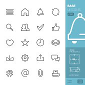 Base UI related vector icons - PRO pack