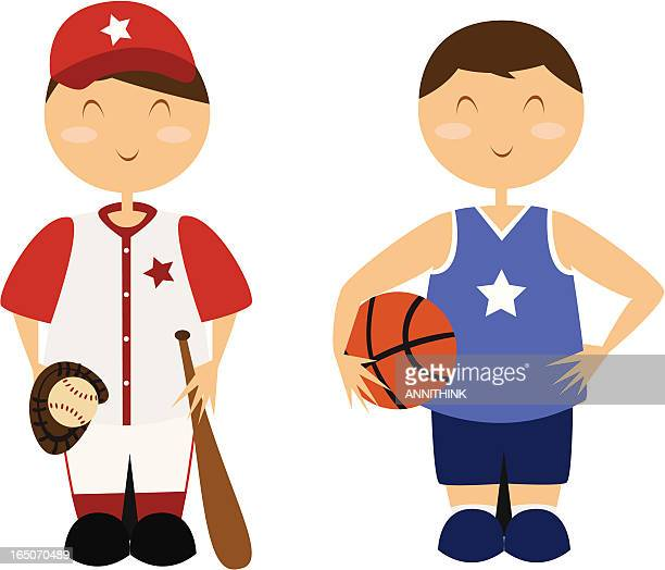 Baseball and Basketball Athletes