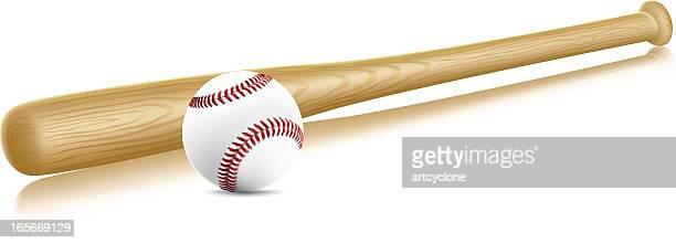 Baseball und Bat