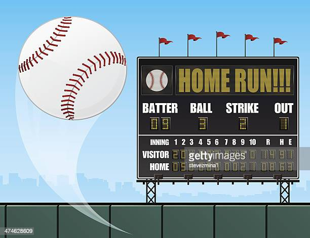 baseball and scoreboard - scoring stock illustrations