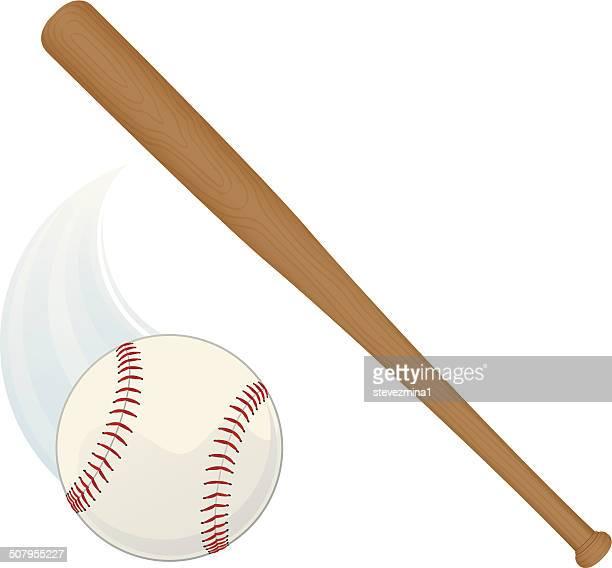 baseball bat and ball - baseball bat stock illustrations, clip art, cartoons, & icons