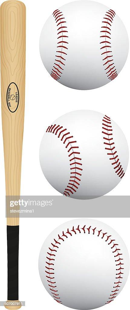Baseball Bat and Balls