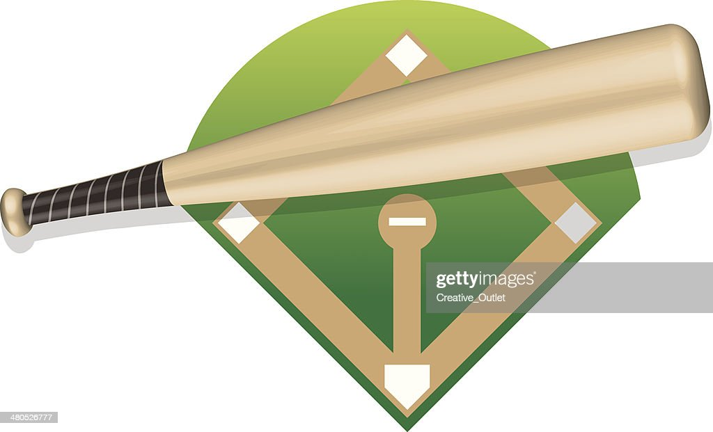 Baseball Bat : Vector Art