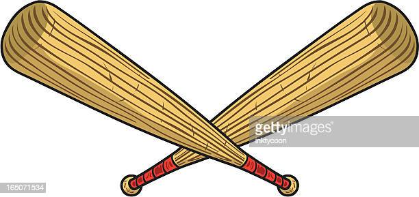 baseball bats - baseball bat stock illustrations, clip art, cartoons, & icons