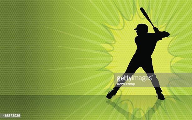 bildbanksillustrationer, clip art samt tecknat material och ikoner med baseball batter burst background - basebollslag