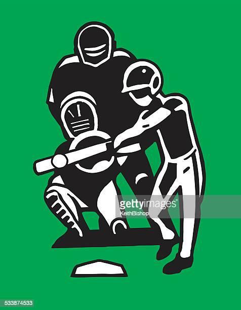 illustrations, cliparts, dessins animés et icônes de batter dessin animé de baseball - arbitre de baseball