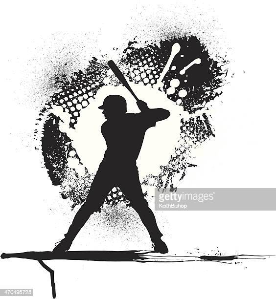 Baseball Batter Grunge Graphic Background
