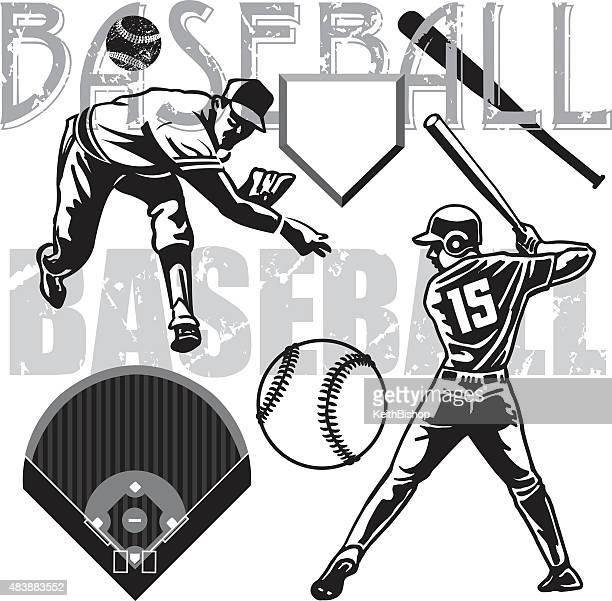 Baseball Batter, Pitcher, Equipment