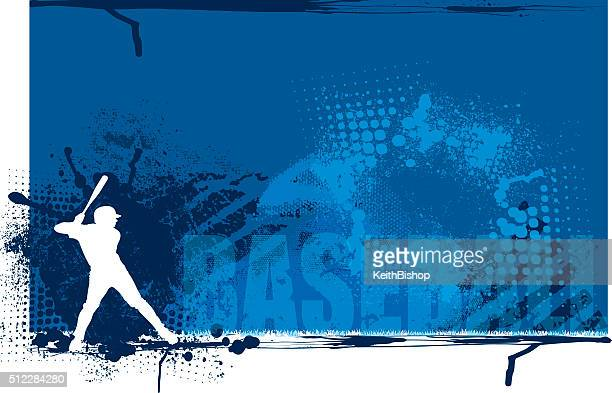 stockillustraties, clipart, cartoons en iconen met baseball batter team sports background - sporting term