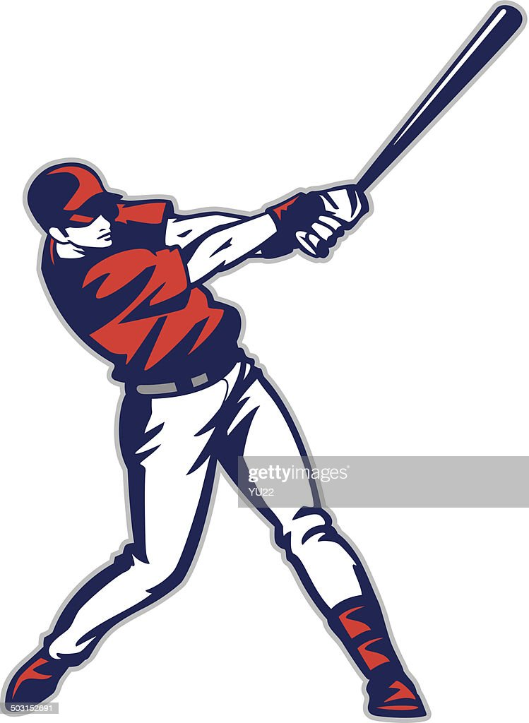 baseball batter vector art getty images rh gettyimages com Baseball Batter Silhouette Baseball Cap Vector
