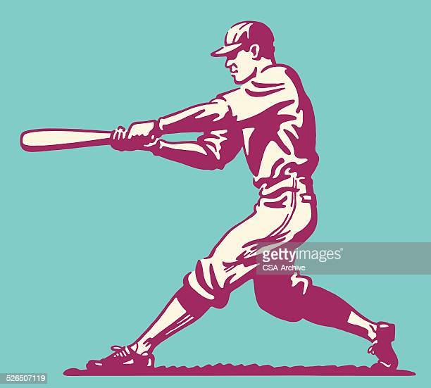 baseball batter - baseball player stock illustrations