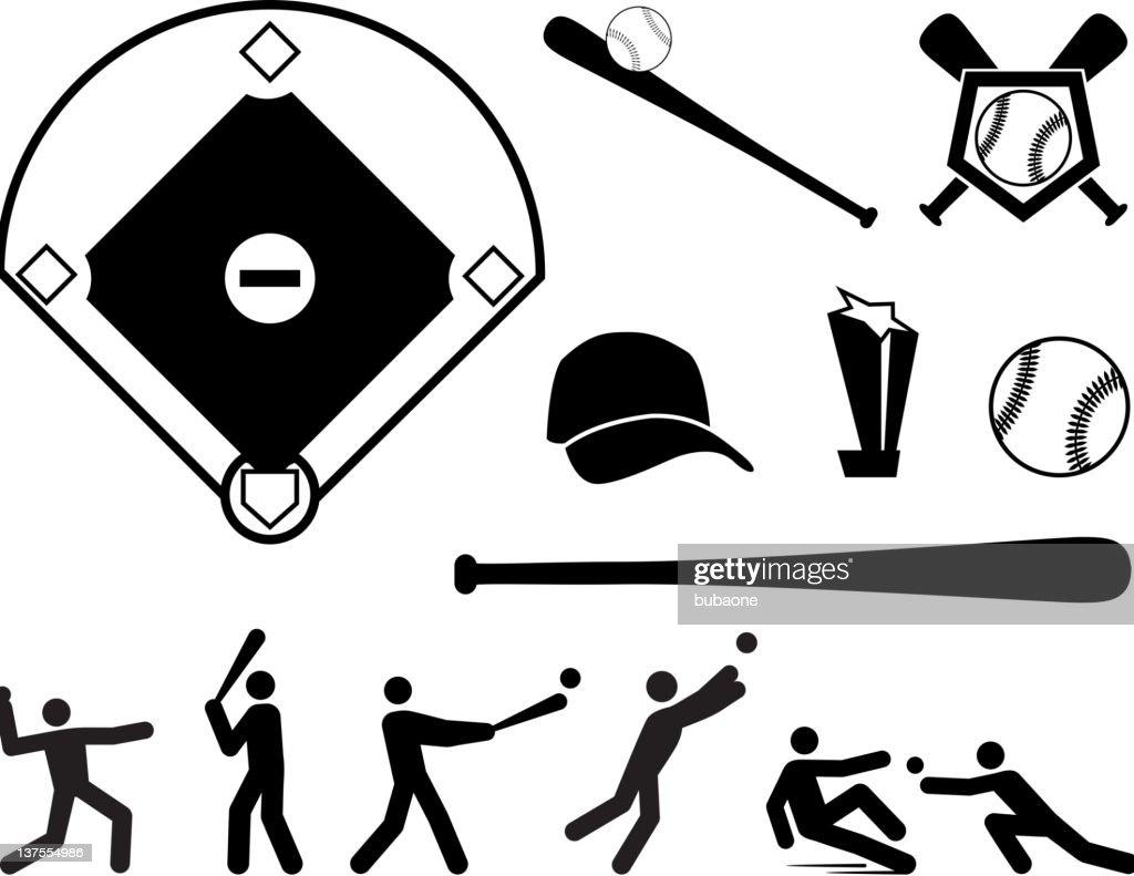 Baseball black and white royalty free vector arts