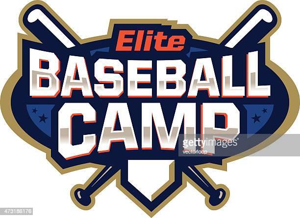 baseball camp emblem - sports training camp stock illustrations