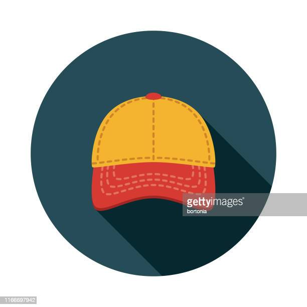 baseball cap clothing & accessories icon - baseball cap stock illustrations