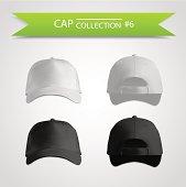Baseball cap collection for branding