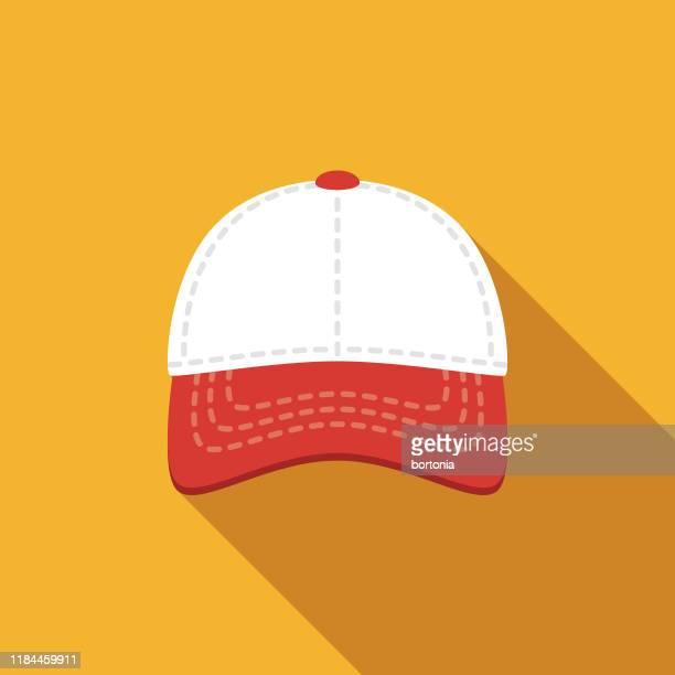 illustrazioni stock, clip art, cartoni animati e icone di tendenza di icona del berretto da baseball - berretto da baseball