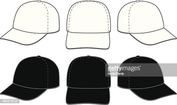 baseball caps - hat stock illustrations