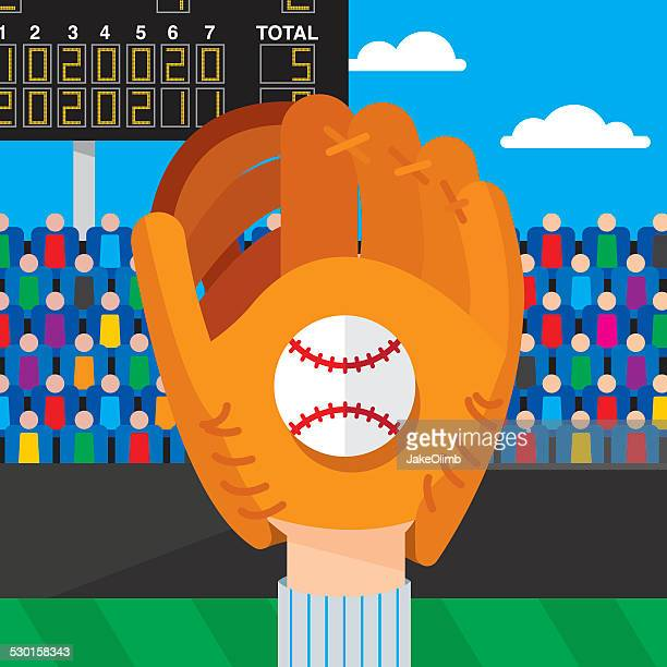 baseball catch - home run stock illustrations