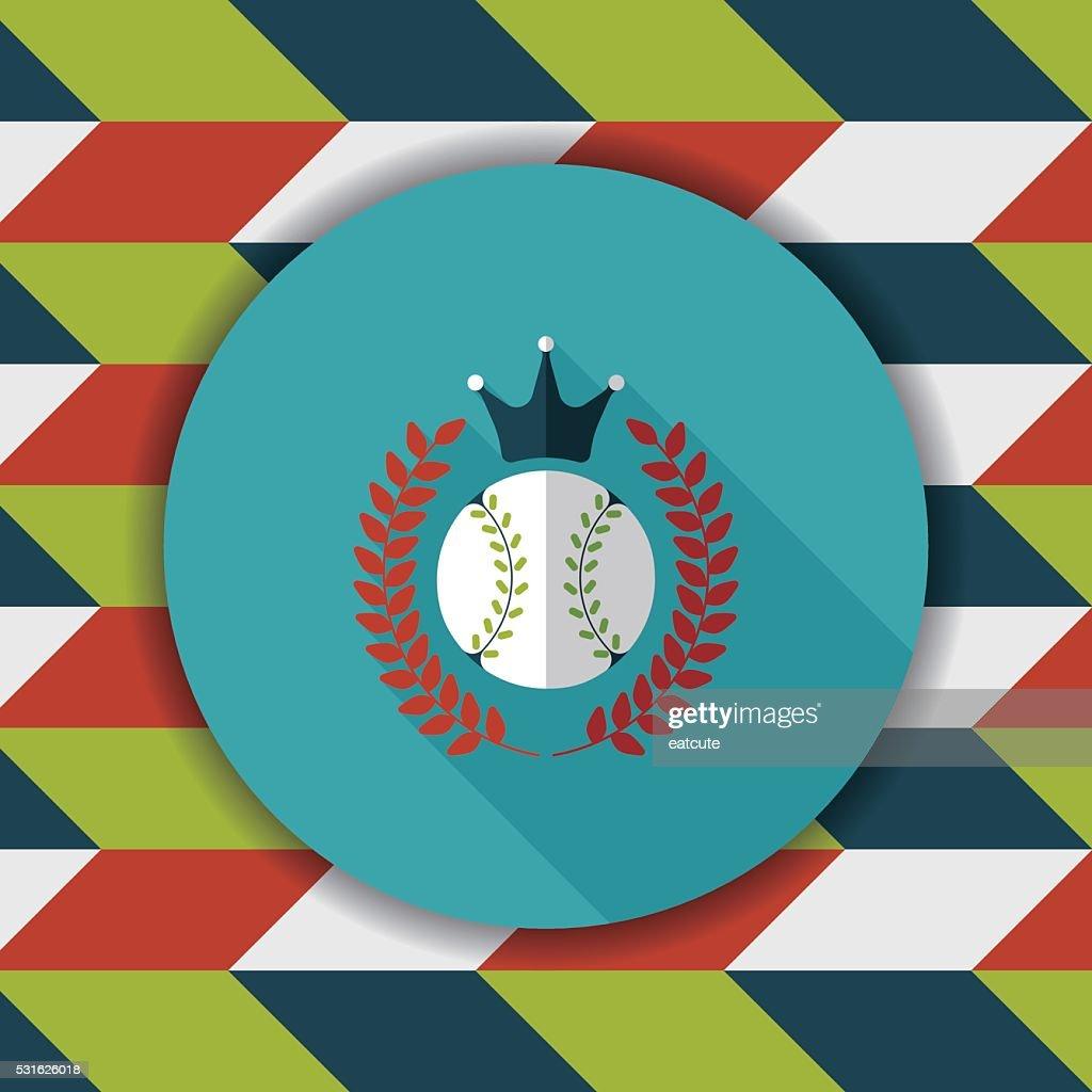 baseball champion flat icon with long shadow,eps10