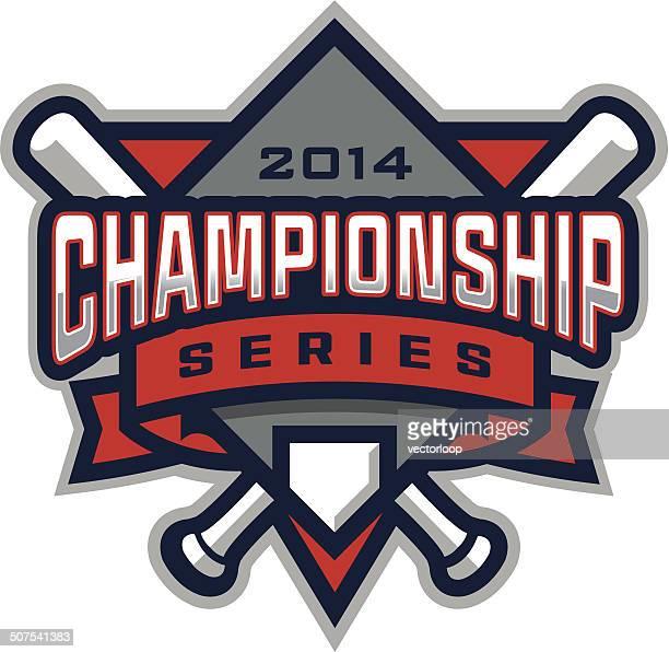 野球チャンピオンシップのロゴ - スポーツ ホームベース点のイラスト素材/クリップアート素材/マンガ素材/アイコン素材