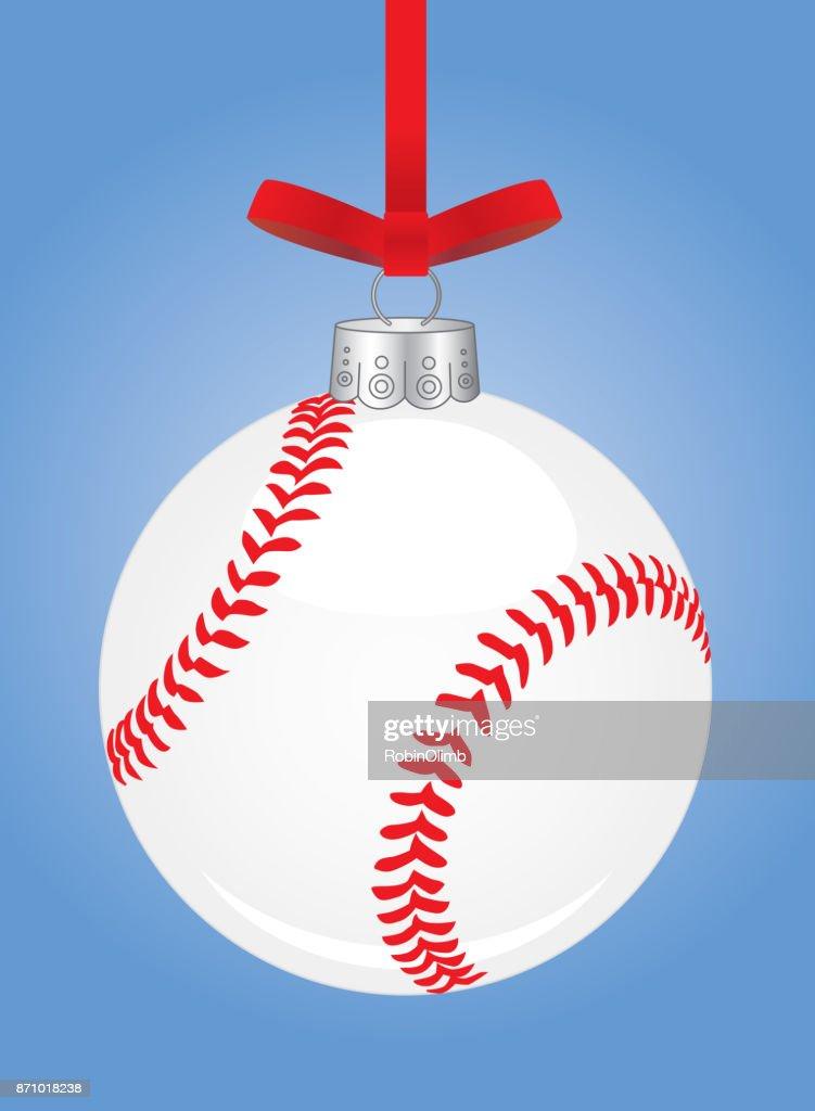 baseball christmas ornament vector art - Baseball Christmas