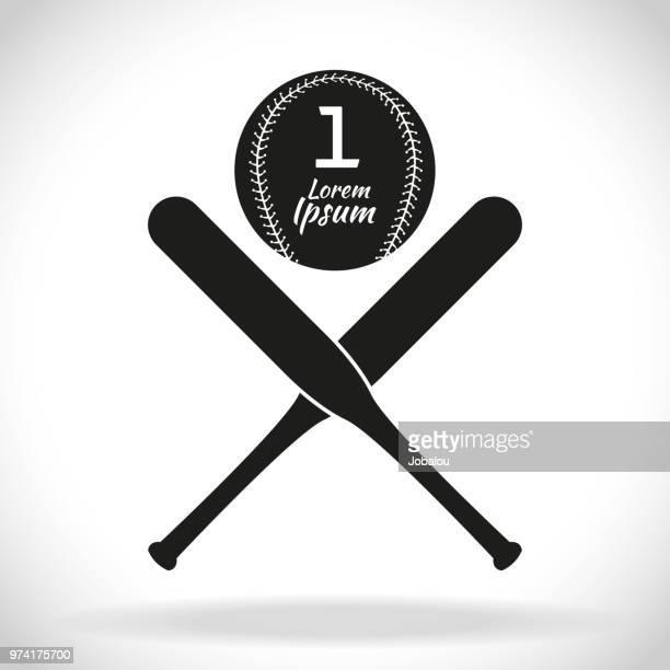 bildbanksillustrationer, clip art samt tecknat material och ikoner med baseball clip art ikon - basebollslag