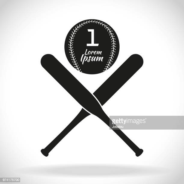 baseball clip art icon - batting stock illustrations