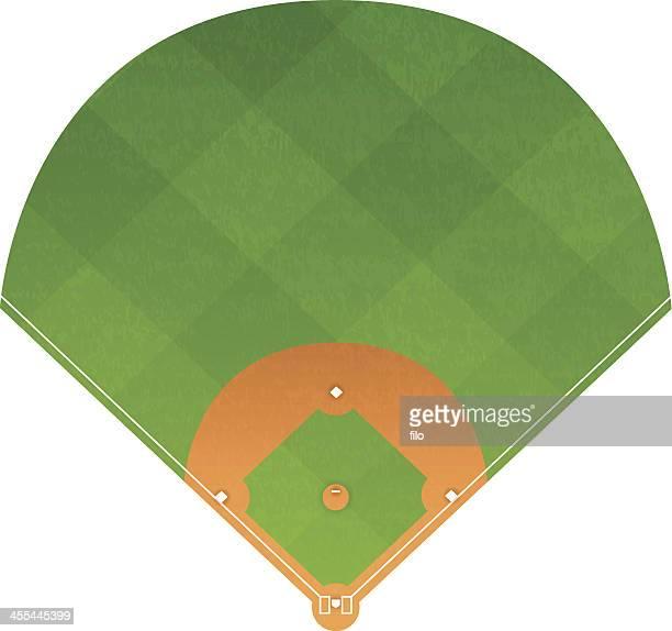 baseball diamond - baseball diamond stock illustrations