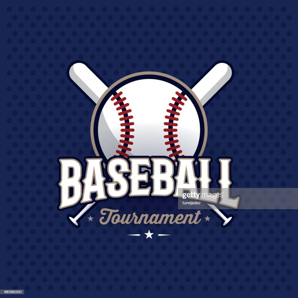 Baseball emblem blue