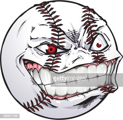 baseball face vector art getty images