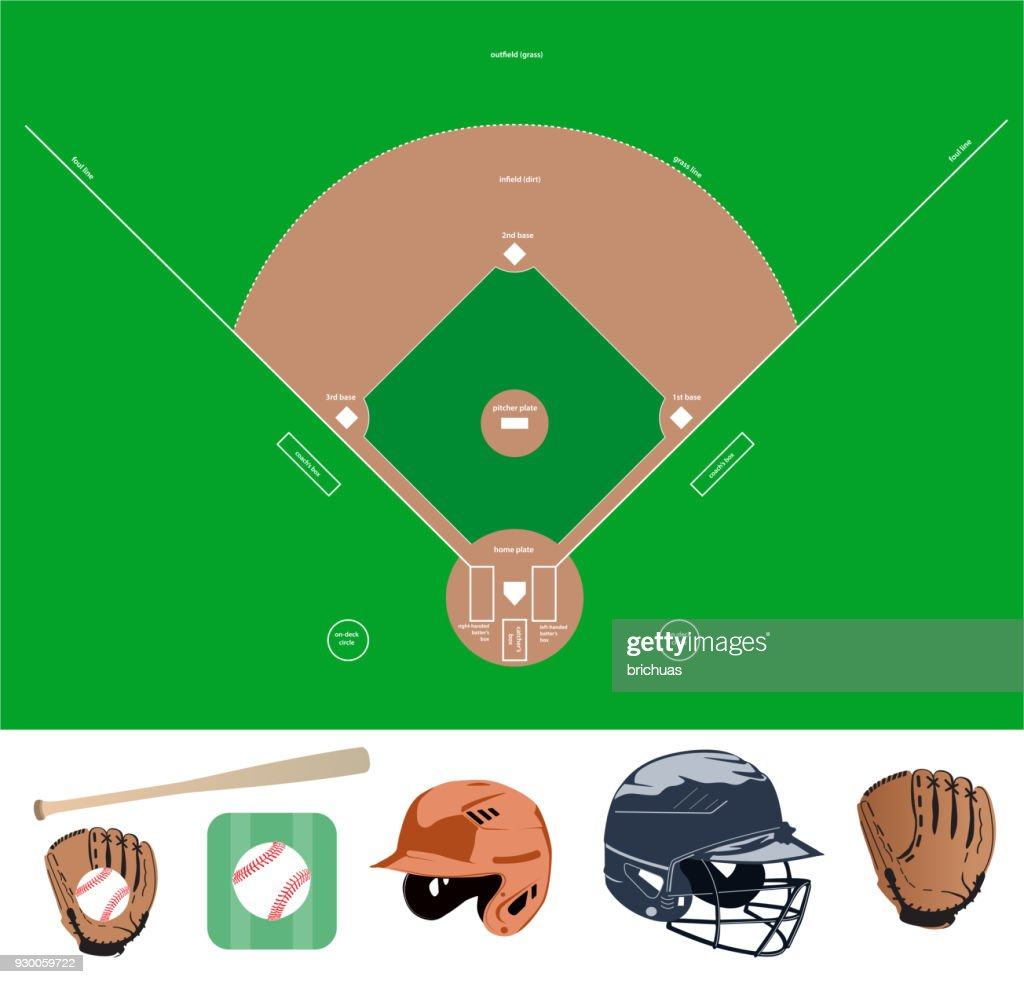 baseball field and stuff icons