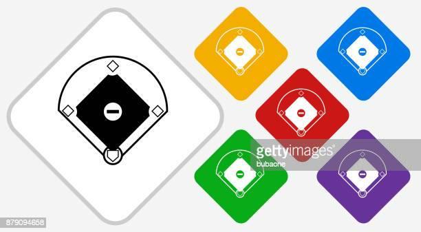 Baseball Field Color Diamond Vector Icon