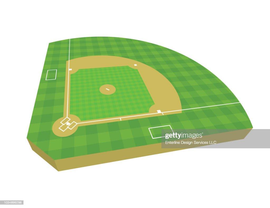 3D Baseball Field Illustration