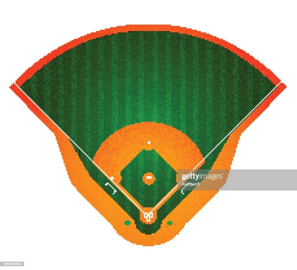 Baseball Field. Isolated on white. Vector illustration