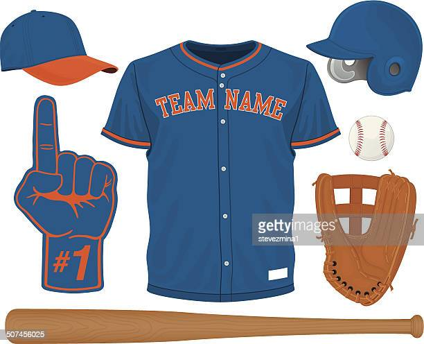野球のギア - 野球のユニフォーム点のイラスト素材/クリップアート素材/マンガ素材/アイコン素材
