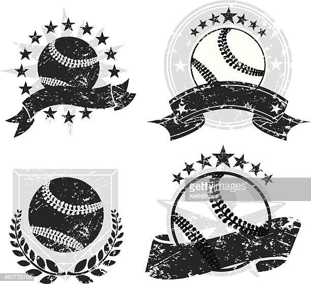 Baseball Grunge Banners and Icons