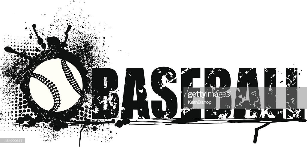 Baseball Grunge Graphic Background
