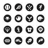 Baseball Icon - Black Circle Series