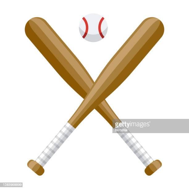 baseball icon on transparent background - baseball bat stock illustrations