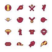 Baseball Icon - Outline Series