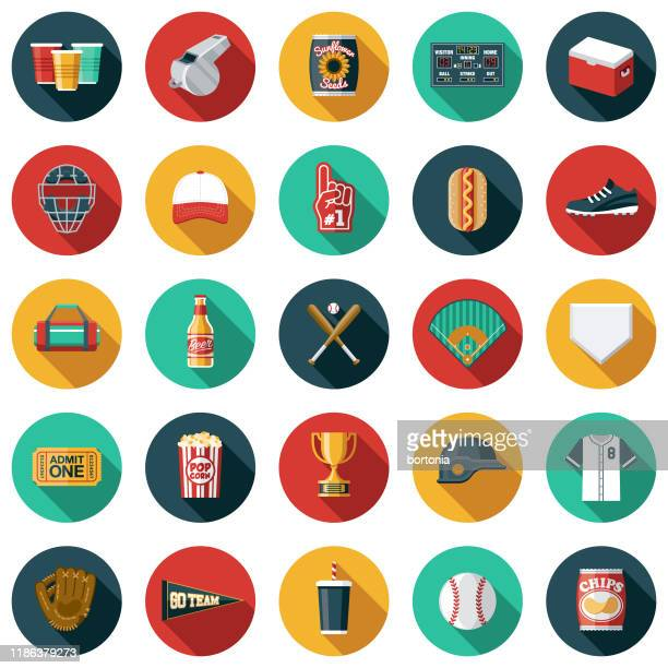野球アイコンセット - スポーツユニフォーム点のイラスト素材/クリップアート素材/マンガ素材/アイコン素材
